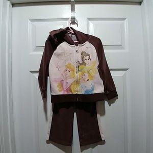 Disney Velour Princess Outfit Size 4